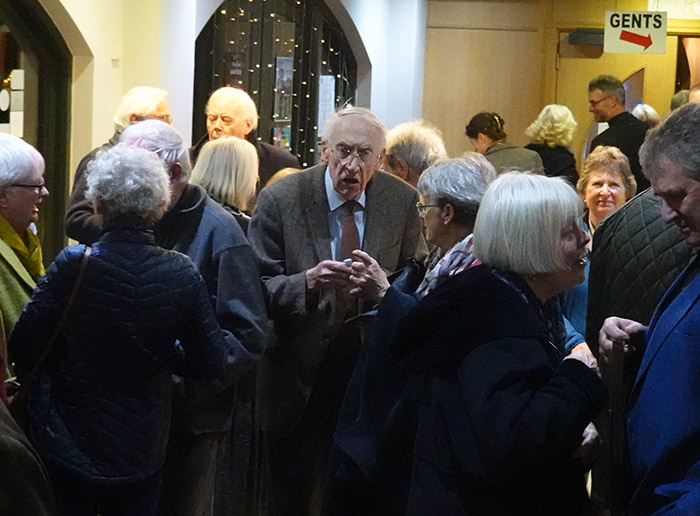 Busy Theatre Foyer at Brecknock Society's Sir John Lloyd Memorial Lecture
