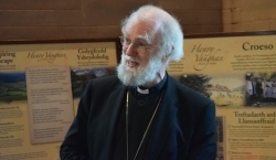 Dr Rowan Williams opening the Henry Vaughan Visitor Centre